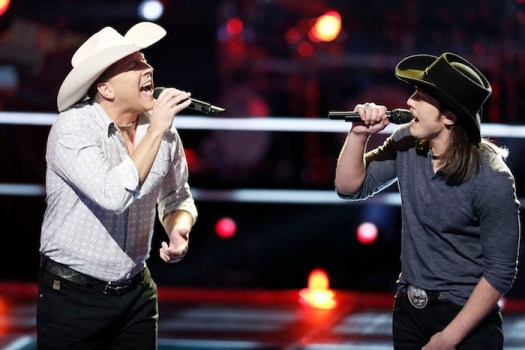 "THE VOICE -- ""Battle Rounds"" E -- Pictured: (l-r) Matt Snook, Cody Wickline -- (Photo by: Tyler Golden/NBC)"