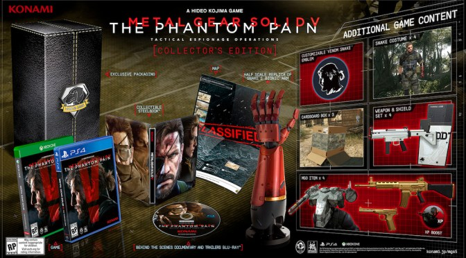 Metal Gear Solid V: The Phantom Pain Announce Day One & Collector's Edition