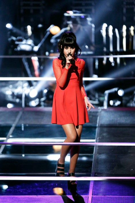 "THE VOICE -- ""Battle Rounds"" -- Pictured: Mia Z. -- (Photo by: Tyler Golden/NBC)"