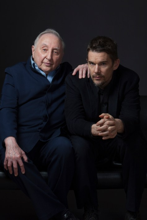 Seymour Bernstein and Ethan Hawke in Hawke's SEYMOUR: AN INTRODUCTION.  Courtesy of Ramsey Fendall.  Copyright Risk Love LLC.  A Sundance Selects release.