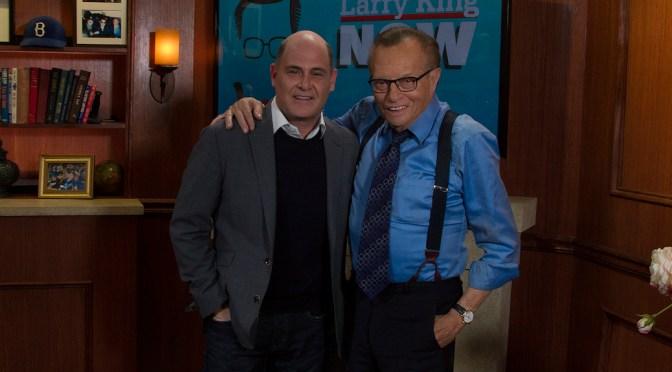 "Matthew Weiner Talks ""Mad Men"" Finale On ""Larry King Now"""