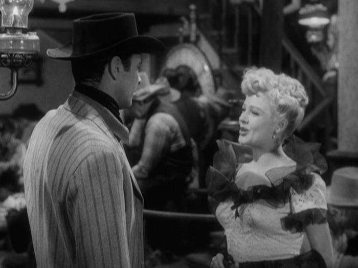 """Barry Sullivan & Marjorie Reynolds in """"Bad Men of Tombstone."""" (Warner Archive)"""