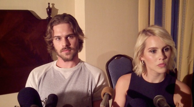 "VIDEO: Grey Damon & Claire Holt Talk ""Awe-Inspiring"" Aquarius Journey"