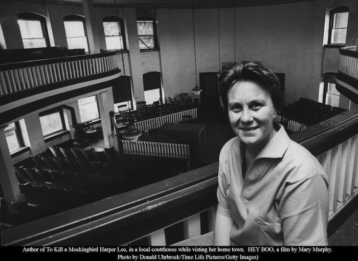 Author of To Kill a Mockingbird Harper Lee, in a local coutrhouse while visting her home town.  HEY BOO, a film by Mary Murphy. Photo by Donald Uhrbrock/Time Life Pictures/Getty Images)