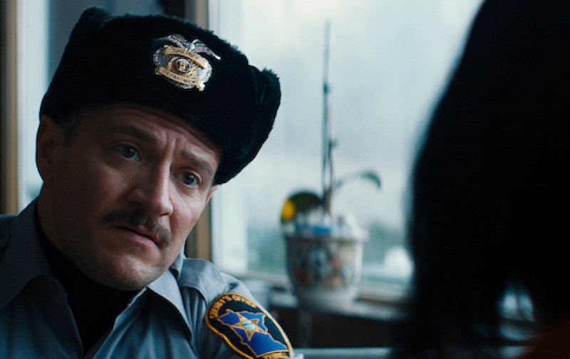 David Zellner, who directs the film, also plays the well-intentioned policeman who attempts to help Kumiko (Rinko Kikuchi). (Amplify Releasing)
