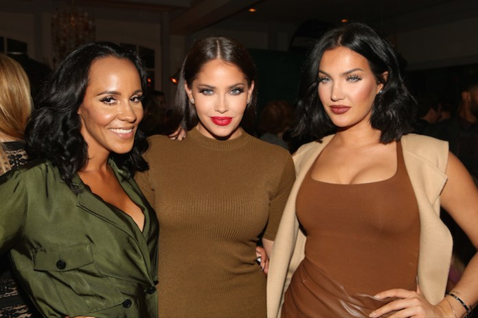 """NBCUNIVERSAL EVENTS --  NBCUniversal Press Tour, August 2015 -- Spago Party -- Pictured: (l-r) Ashley North, Olivia Pierson, Natalie Halcro, E!'s """"WAGS"""" -- (Photo by: Evans Vestal Ward/NBCUniversal)"""