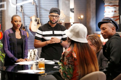 "THE VOICE -- ""Team Pharrell Battle Reality"" -- Pictured: (l-r) Celeste Betton, Mark Hood -- (Photo by: Trae Patton/NBC)"