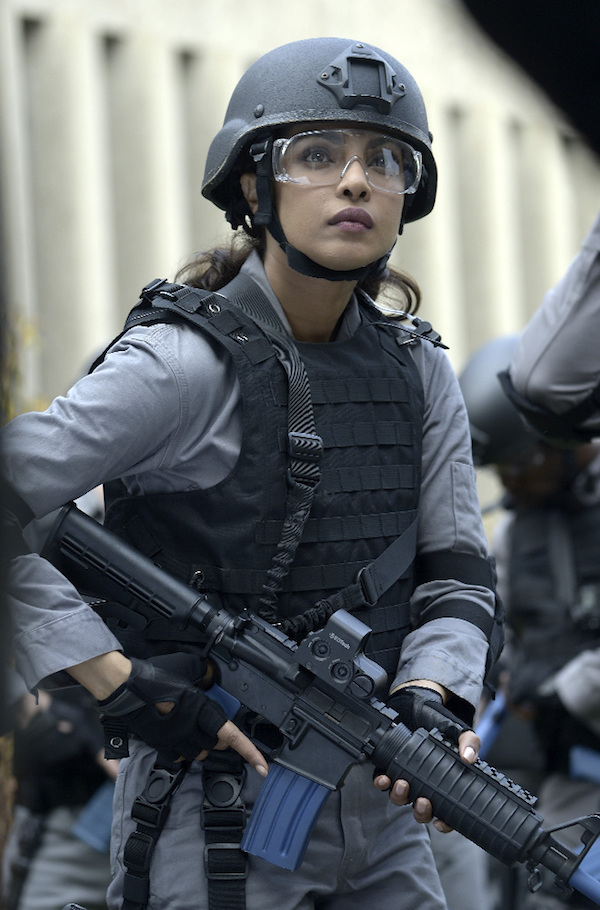 """QUANTICO - """"Kill"""" - At Quantico, the recruits are tasked with performing a hostage rescue training exercise that shakes Alex, making her question her ability and whether she should quit Quantico. While in the future, Alex continues to search for clues, finding one that questions the innocence of one of her closest classmates. But is her clue really what she thinks? No one is who they seem, on """"Quantico,"""" SUNDAY, OCTOBER 18 (10:01-11:00 p.m., ET) on the ABC Television Network. (ABC/Phillipe Bosse) PRIYANKA CHOPRA"""