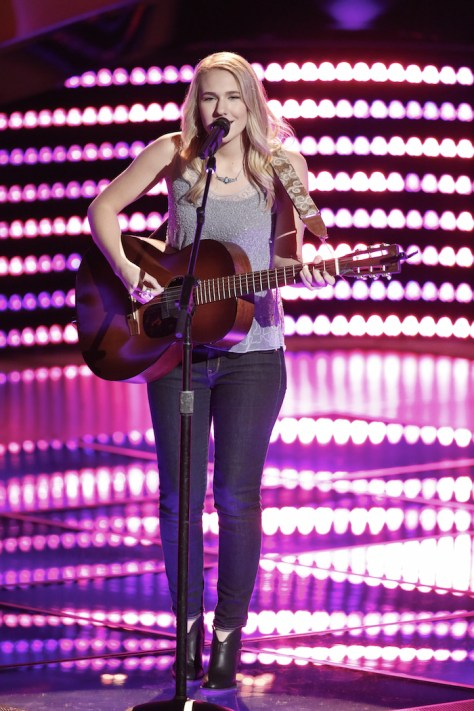 "THE VOICE -- ""Blind Auditions"" -- Pictured: Peyton Parker -- (Photo by: Tyler Golden/NBC)"