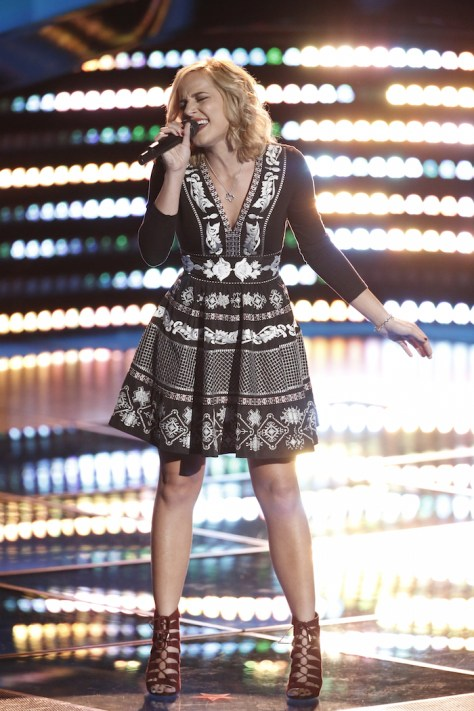 """THE VOICE -- """"Blind Auditions"""" -- Pictured: Mary Sarah -- (Photo by: Tyler Golden/NBC)"""