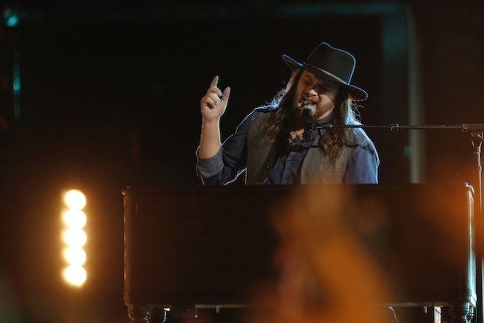 """THE VOICE -- """" Pictured: Adam Wakefield -- (Photo by: Trae Patton/NBC)"""