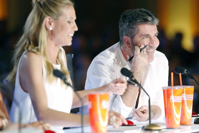 "AMERICA'S GOT TALENT -- ""Auditions Pasadena Civic Auditorium"" -- Pictured: (l-r) Heidi Klum, Simon Cowell -- (Photo by: Trae Patton/NBC)"