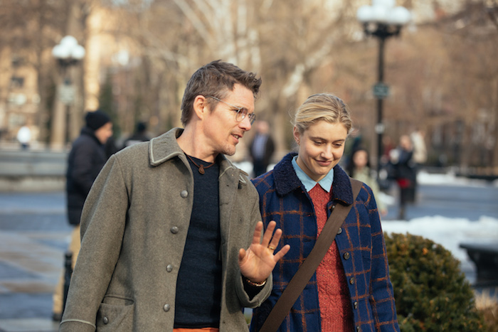 Greta Gerwig as Maggie and Ethan Hawke as John Photo by John Pack, Hall Monitor, Inc., Courtesy of Sony Pictures Classics