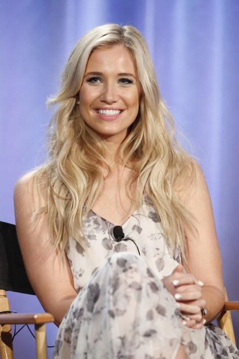"""NBCUniversal Summer Press Day, April 1, 2016 -- NBC's """"American Ninja Warrior"""" Panel -- Pictured: Kristine Leahy, Co-Host -- (Photo by: Trae Patton/NBCUniversal)"""