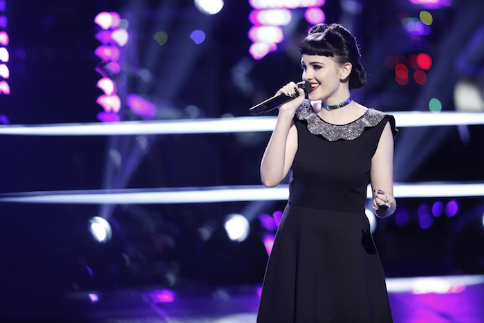"""THE VOICE -- """"Knockout Rounds"""" -- Pictured: Belle Jewel -- (Photo by: Tyler Golden/NBC)"""