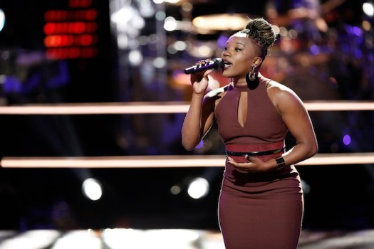 """THE VOICE -- """"Knockout Rounds"""" -- Pictured: Simone Gundy -- (Photo by: Tyler Golden/NBC)"""
