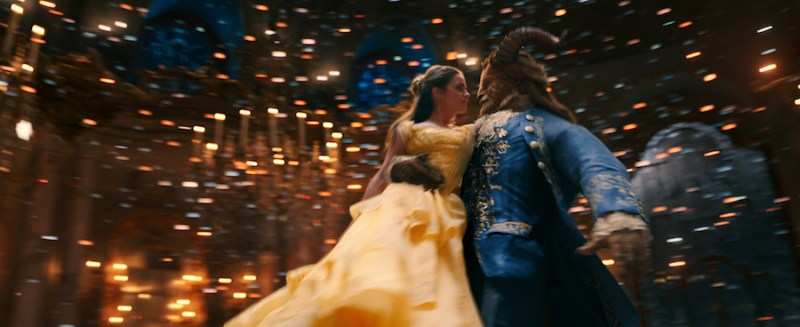 Belle (Emma Watson) comes to realize that underneath the hideous exterior of the Beast (Dan Stevens) there is the kind heart of a Prince in Disney's BEAUTY AND THE BEAST, a live-action adaptation of the studio's animated classic directed by Bill Condon.
