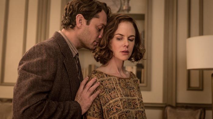 "Jude Law (""Thomas Wolfe,"" left) and Nicole Kidman (""Aline Bernstein,"" right) star in Lionsgate Home Entertainment's GENIUS."