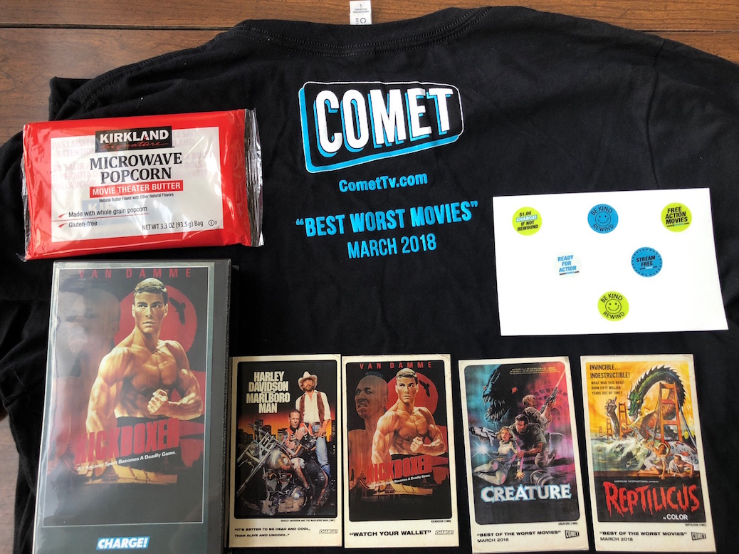 'Johnny Mnemonic' T-Shirt And 'Kickboxer' Clam Shell Box Giveaway From Comet TV!!!