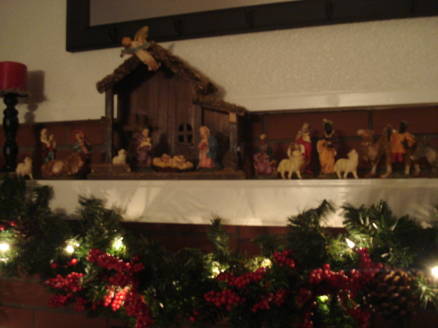 The mantle.. with Nativity