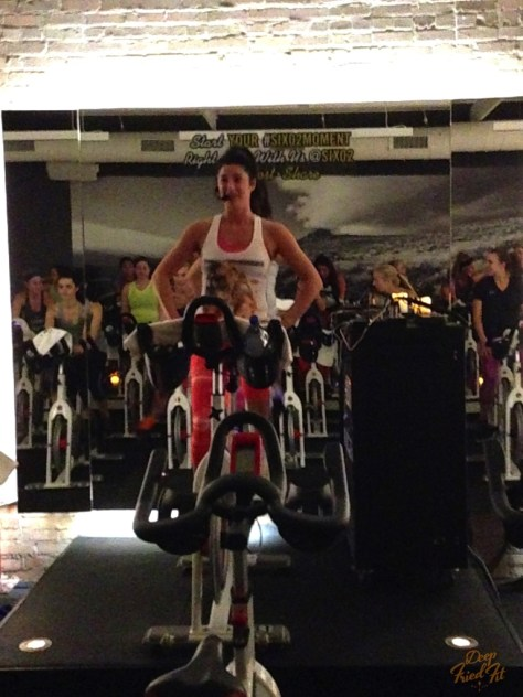 Jessica Watts on the bike! Really loved her class and she's gorgeous!
