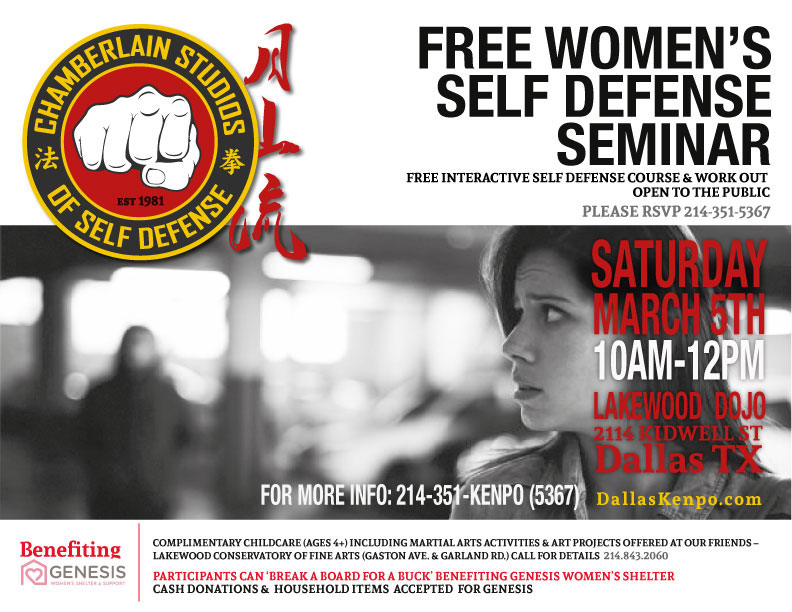 Chamberlain Studios' Free Self Defense Workshop-March 5th