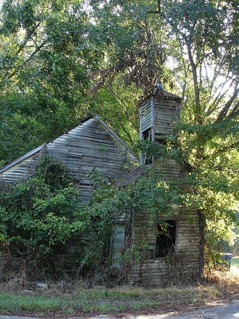 Abandoned Church, Fort Cobun - Grand Gulf, MS