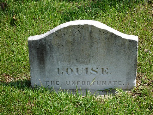 Louise the Unfortunate, Natchez City Cemetery, Natchez MS