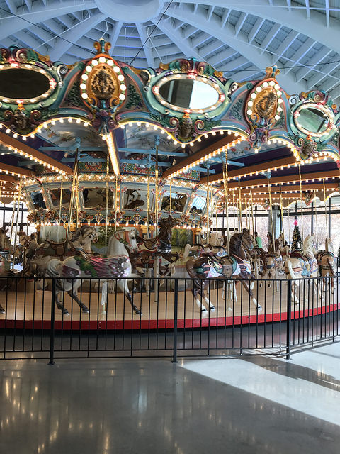 We Ubered Over To The Childrens Museum Of Memphis Where They Have Just Opened Their Gorgeous Restored 1909 Dentzel Grand Carousel