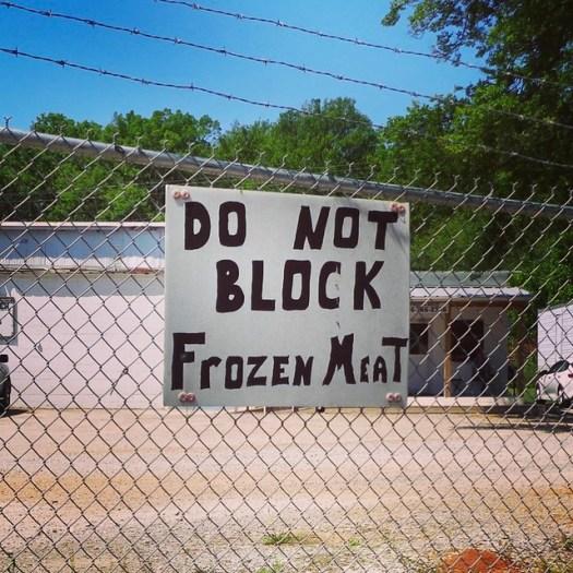 Do Not Block Frozen Meat, Florence AL