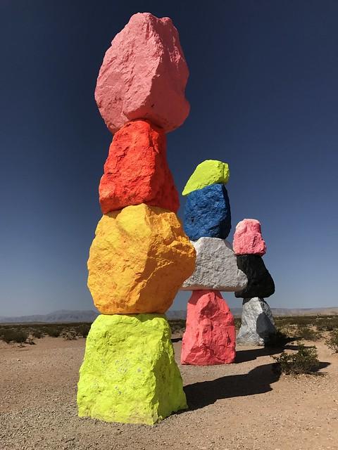 Ugo Rondinone's Seven Magic Mountains outside Las Vegas