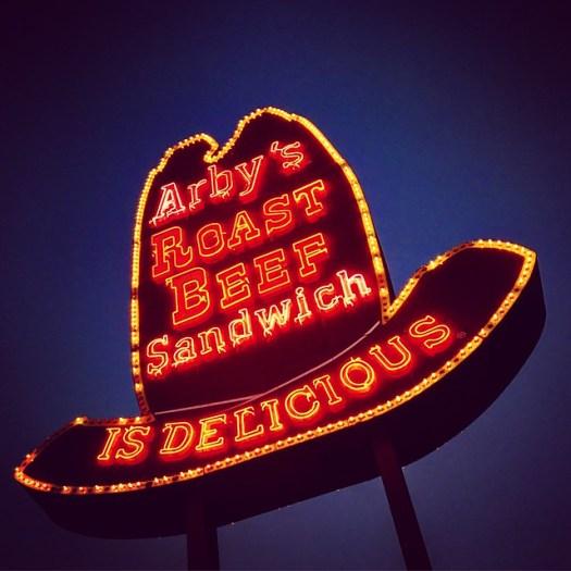 OG Arby's Hat Sign, Forestdale AL