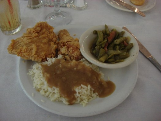 Fried Chicken from Carriage House Restaurant at Stanton Hall, Natchez MS