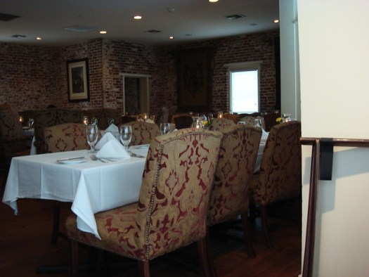 Interior at The Castle Restaurant at Dunleith, Natchez MS