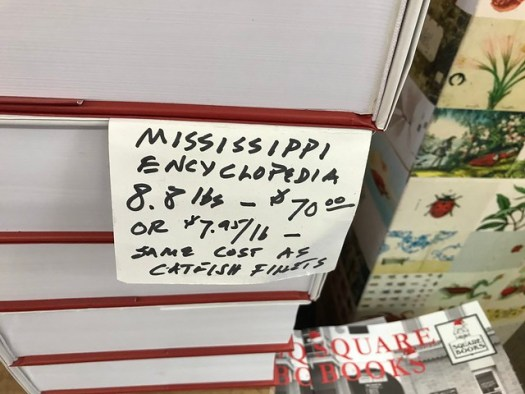 Mississippi Encyclopedia at Square Books, Oxford MS