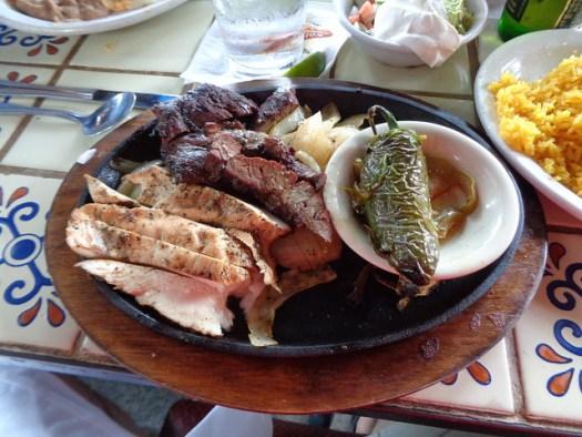 Chicken and Beef Fajitas, The Original Ninfa's on Navigation, Houston TX