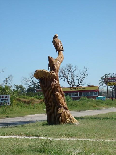 Wood Sculpture, Hwy 98 & Woodward Ave MS