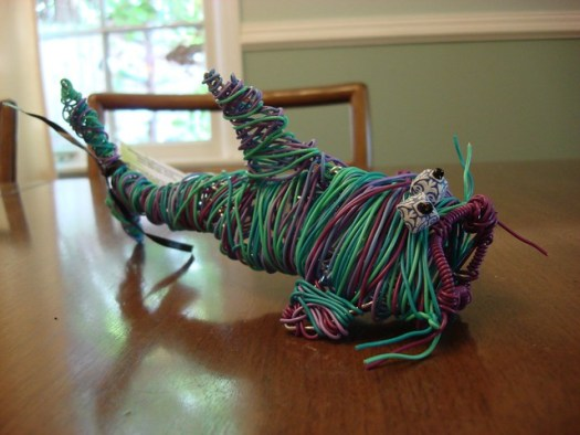 Wire Sculpture (Catfish) by Anne Campbell