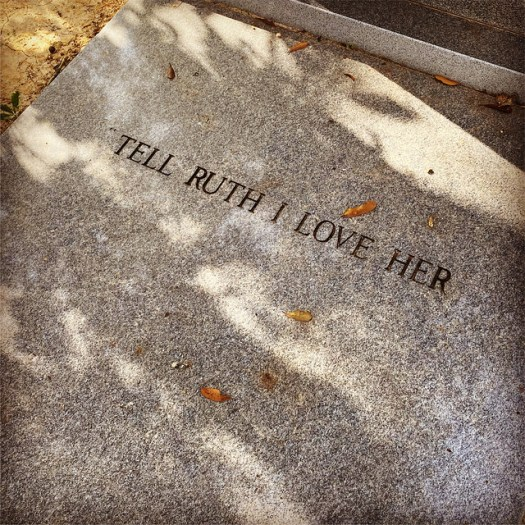 Tell Ruth I Love Her, Ahavas Chesed Cemetery, Mobile AL