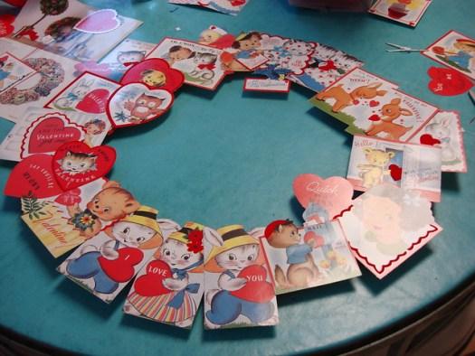 Valentine's Day Card Wreath