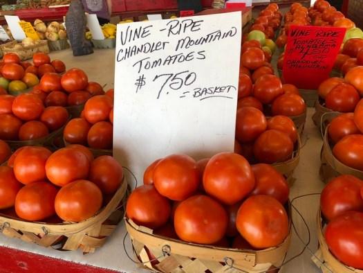 Chandler Mountain Tomatoes, Finley Avenue Alabama Farmers Market, Birmingham AL