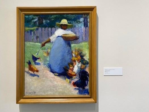 Margaret M. Law, Feeding Chickens, Montgomery Museum of Fine Arts, Montgomery AL