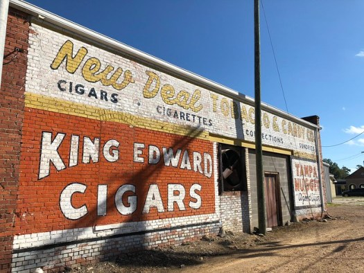 New Deal Tobacco and Candy, King Edward Cigars, Tampa Nuggets Mural in Greenwood MS