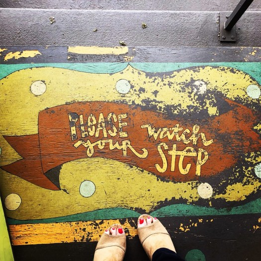 Please watch your step at Naked Art, Birmingham AL