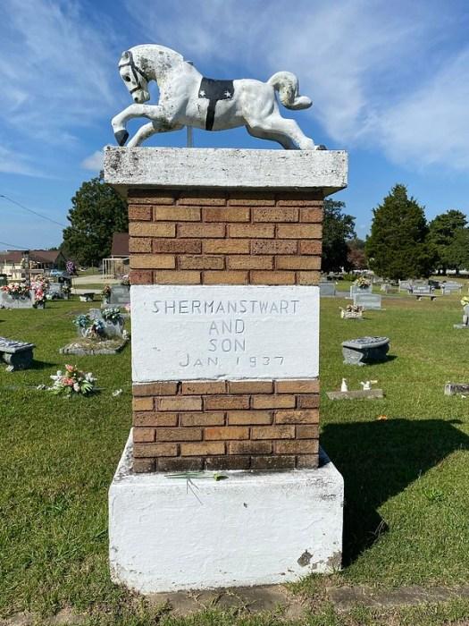 Sherman Stewart and Son Monument, Mt Zion Methodist Church Cemetery, Cullman AL