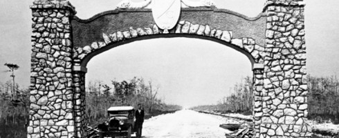 The Tamiami Trail was finished in 1928, and environmentalists have been trying to undo the damage ever since. Trailblazers exhibit, courtesy of Jonathan Ullman.