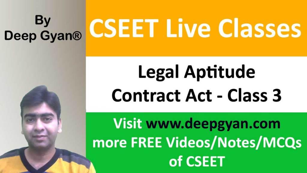 CSEET Legal Aptitude Video Classes