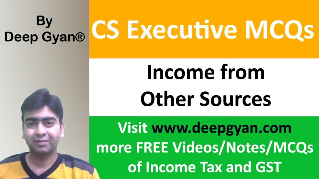 CS Executive Tax Laws MCQs