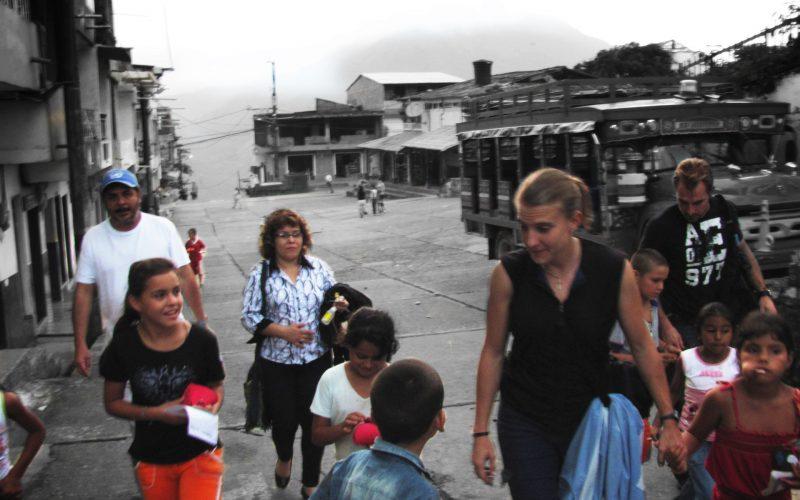 Sarah With Children In Village