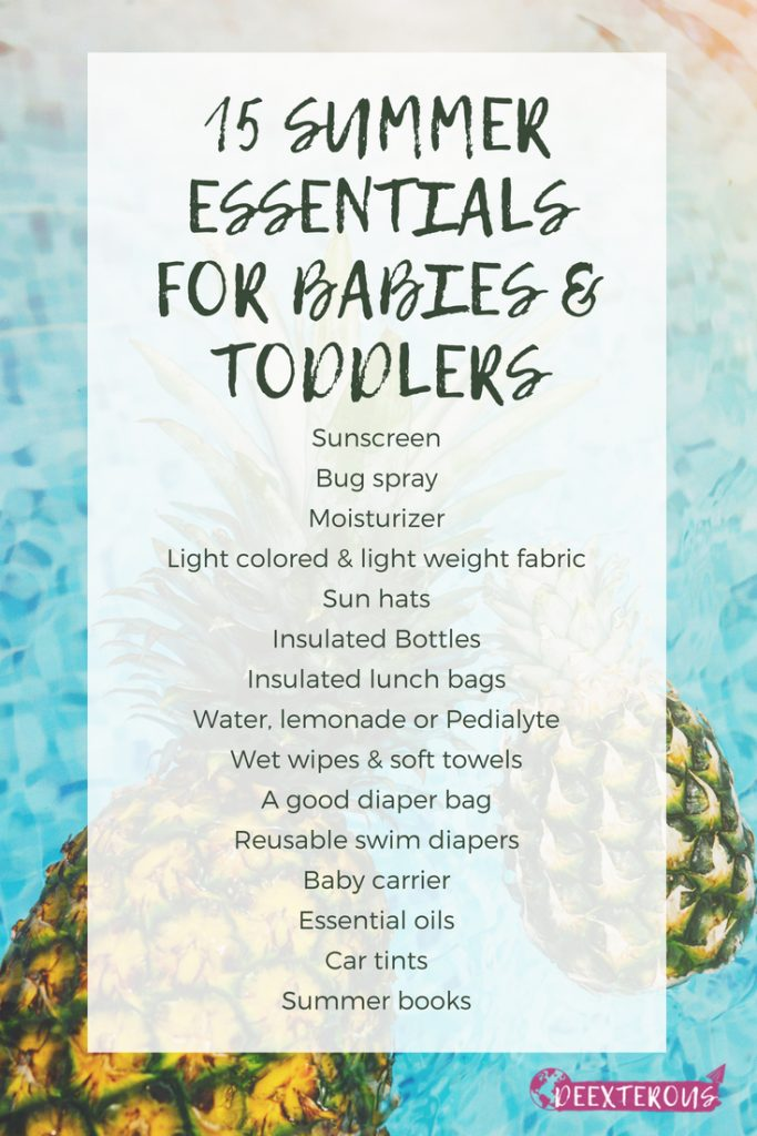 15 summer essentials for babies & toddlers